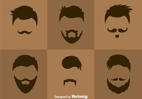 Vector de estilos de cabelo masculinos