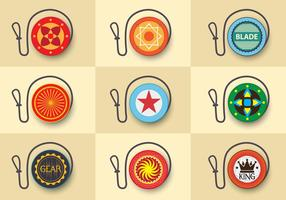 Yoyo flat custom design icon