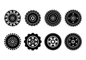 Vecteurs de pneus de tracteur gratuits