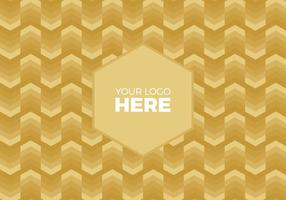 Free Vector Gold Chevron Logo Background