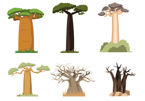 Vector Baobab Gratis