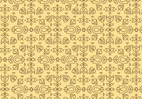 Yellow Outline Geometric Pattern vector
