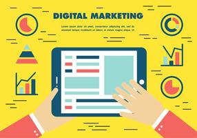 Vector de Marketing Digital Libre