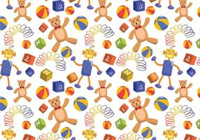 Kids Toys Pattern Vectors
