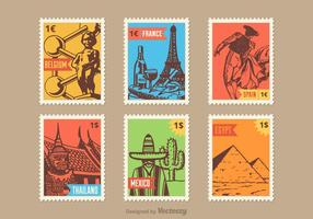 Country Vector Stamps