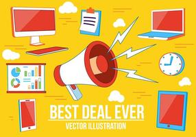 Best Deal Vector  Illustration