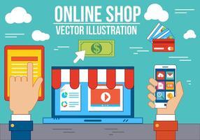 Tienda en línea libre del vector