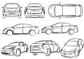 Free Eco-Friendly Cars Vector Illustration