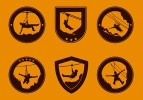 Logotipo de Retro Zipline Logo Gratis