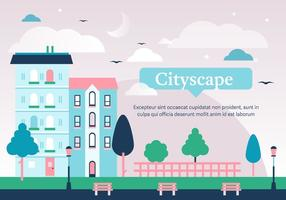 Gratis Cityscape Vector Illustration
