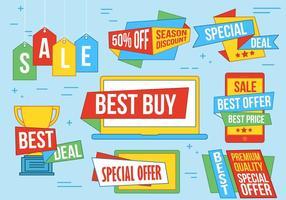 Etiquettes vectorielles spéciales pour offres spéciales