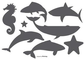Mar Animales vector formas