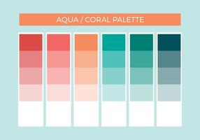 Kostenlose Aqua Coral Vector Palette