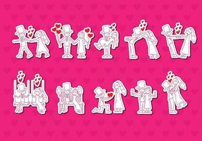 Casamento Vector Stickers