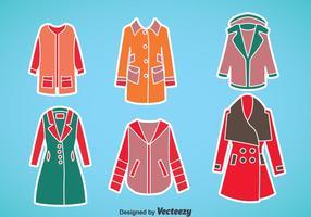 Conjunto de vector de abrigo de invierno de mujer