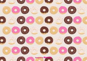Donuts Vector Pattern Background