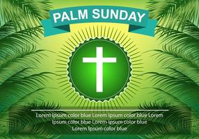 Template Palm Sunday Green Palm Leaf