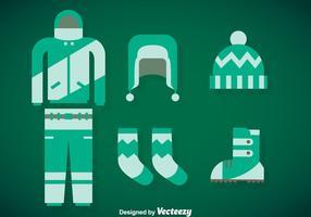 Ensemble de vecteur de manteau d'hiver