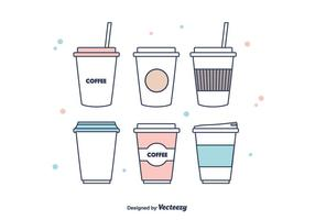 Vector de manga de café