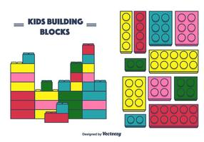 Vector de blocs de construction d'enfants