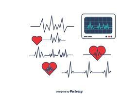 Herz-Monitor-Vektor
