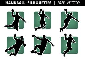 Siluetas de balonmano vector libre