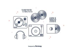 Vinyl Vector Pictogrammen
