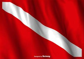 Vektor dyk flagga vinkar