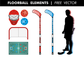 Floorball Elementen Gratis Vector