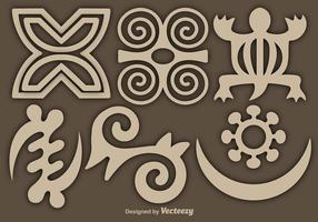 Conjunto de símbolos do vetor Adinkra