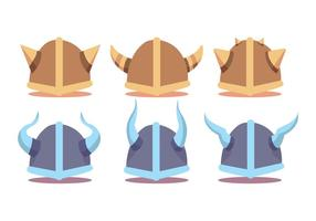 Viking Helmet Vector Set