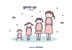 Grow Up Vector Background