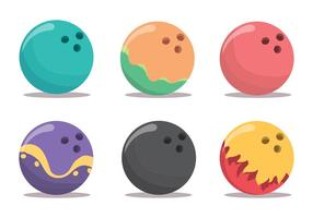 Bowling Alley Vector Set