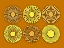 Vector Abstract Sun Icons Set