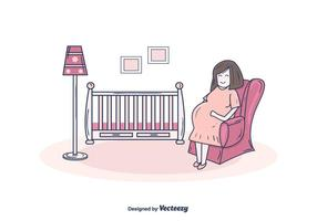 Zwangere Mamma Vector