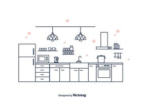 Cocina Interior Vector