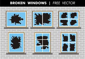 Vecteur libre de fenêtres brisées