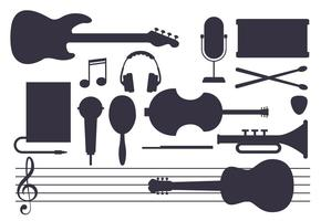 Vector-music-instrument-set