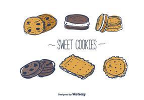Vecteur de cookies sucrés