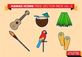 Hawaii Icons Free Vector Pack Vol. 3