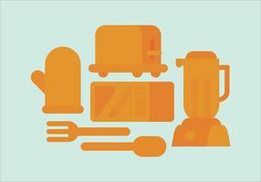 Appareils de cuisine vectorielle