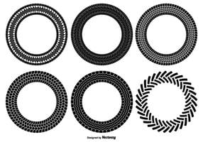 Round Tire Track Shapes vector