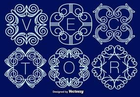 Ensemble de monogrammes élégants, vecteur