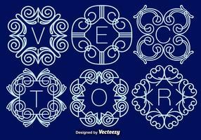 Set av eleganta monogram, vektor