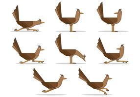 Set Of Roadrunner Vectors
