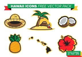 Hawaii Icons Free Vector Pack