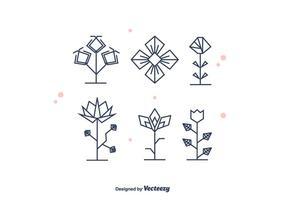 Vetor de flores geométricas