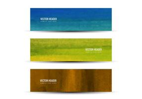 Free Vector Colorful Headers