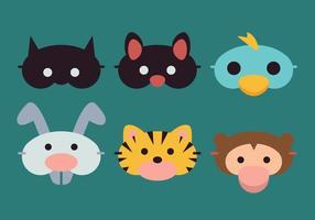 Vector Animales máscara de dormir