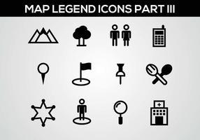 Legenda do mapa grátis III Vector